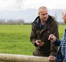Talking with a farmer